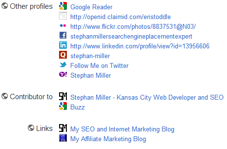 Google Plus Profile Links